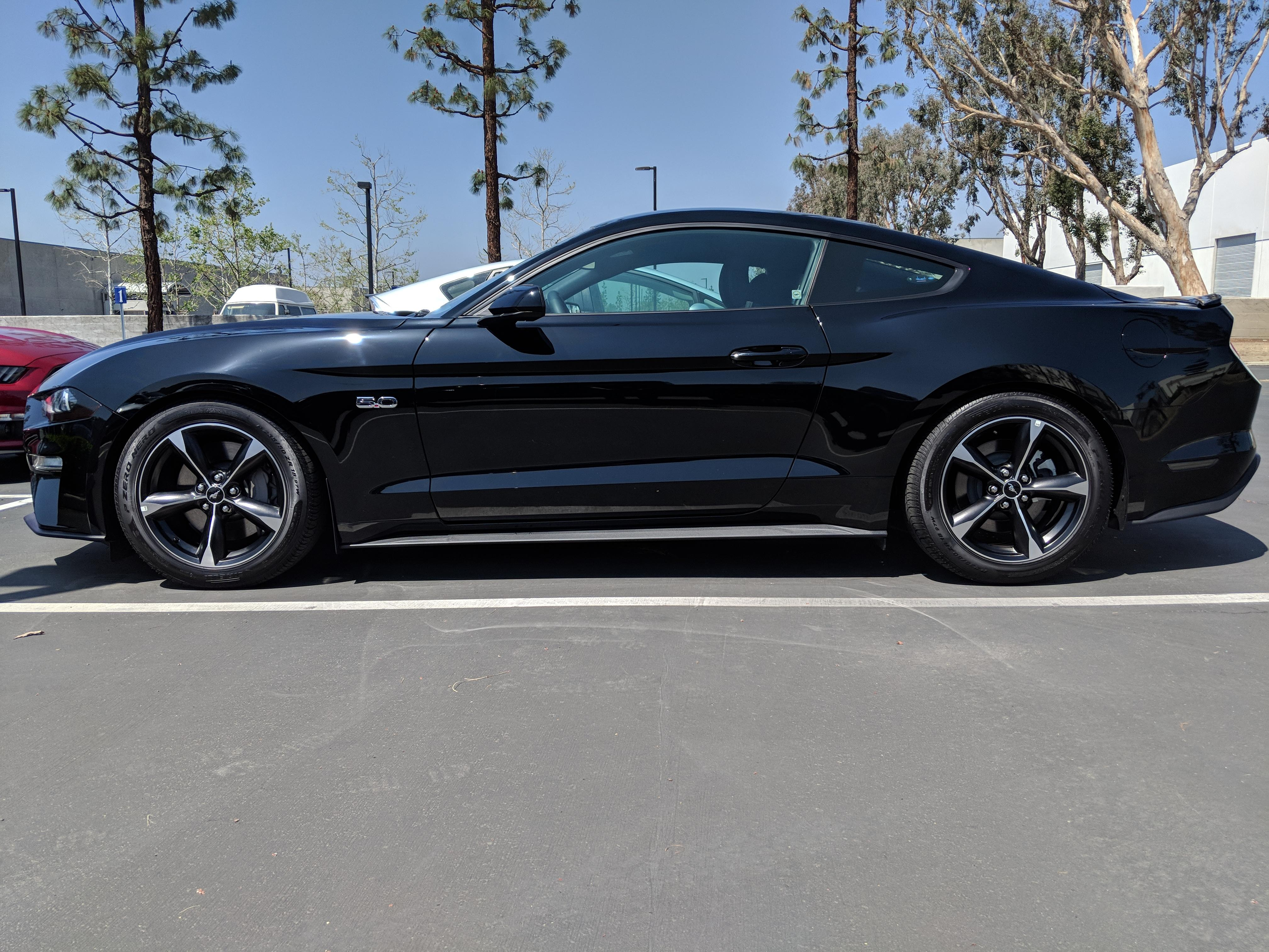 2015 18 Mustang Steeda Sport Springs Progressive Rate Gt V6 Focus Fuse Box Cover These Brought Both The Front And Rear Down To Exactly 275 From Floor Max Outside Height Of Fenders Note Im Using 35mmn Hub Adapters At
