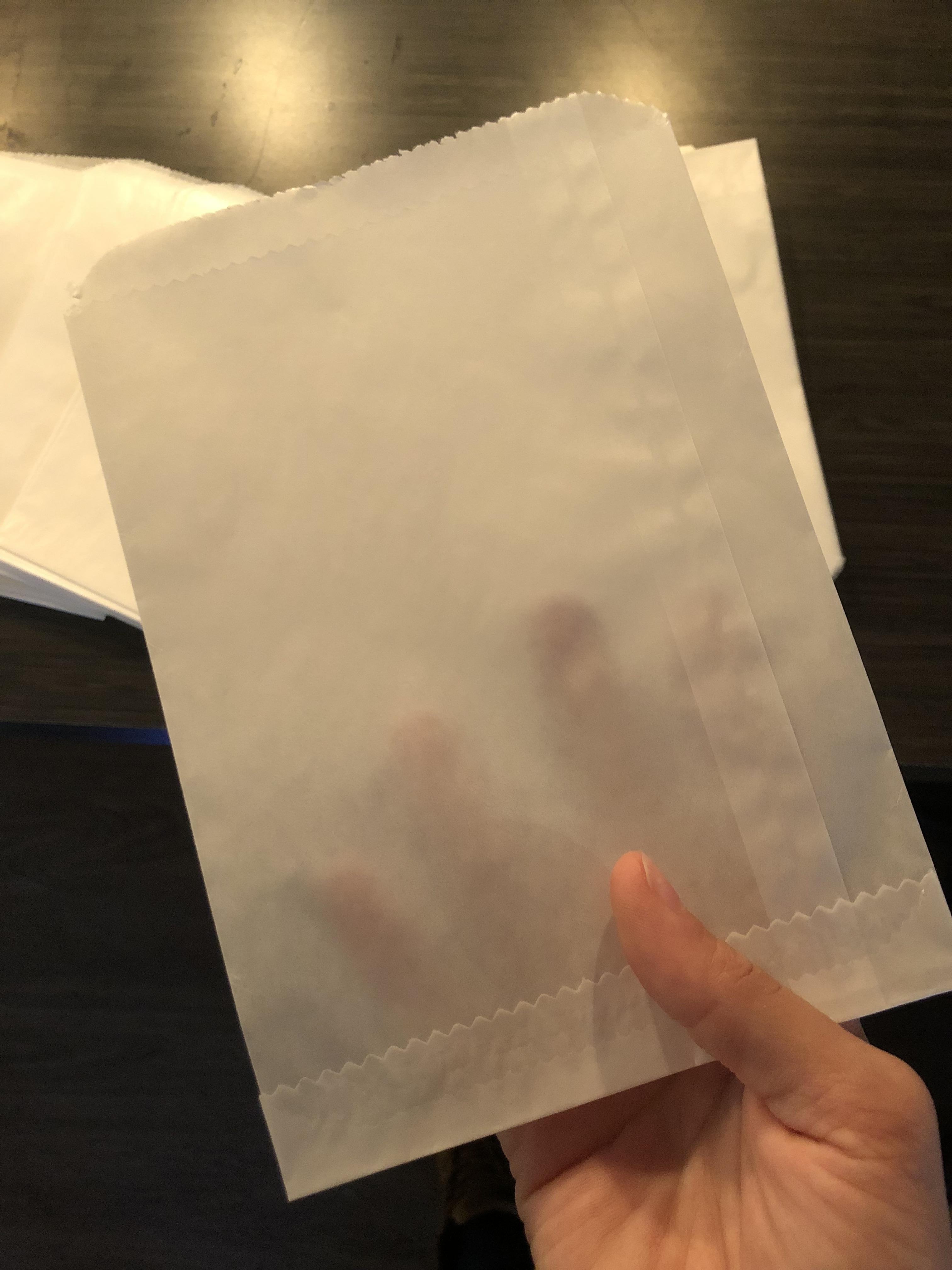 100 Pack Glassine Envelopes for 8x10 End Opening
