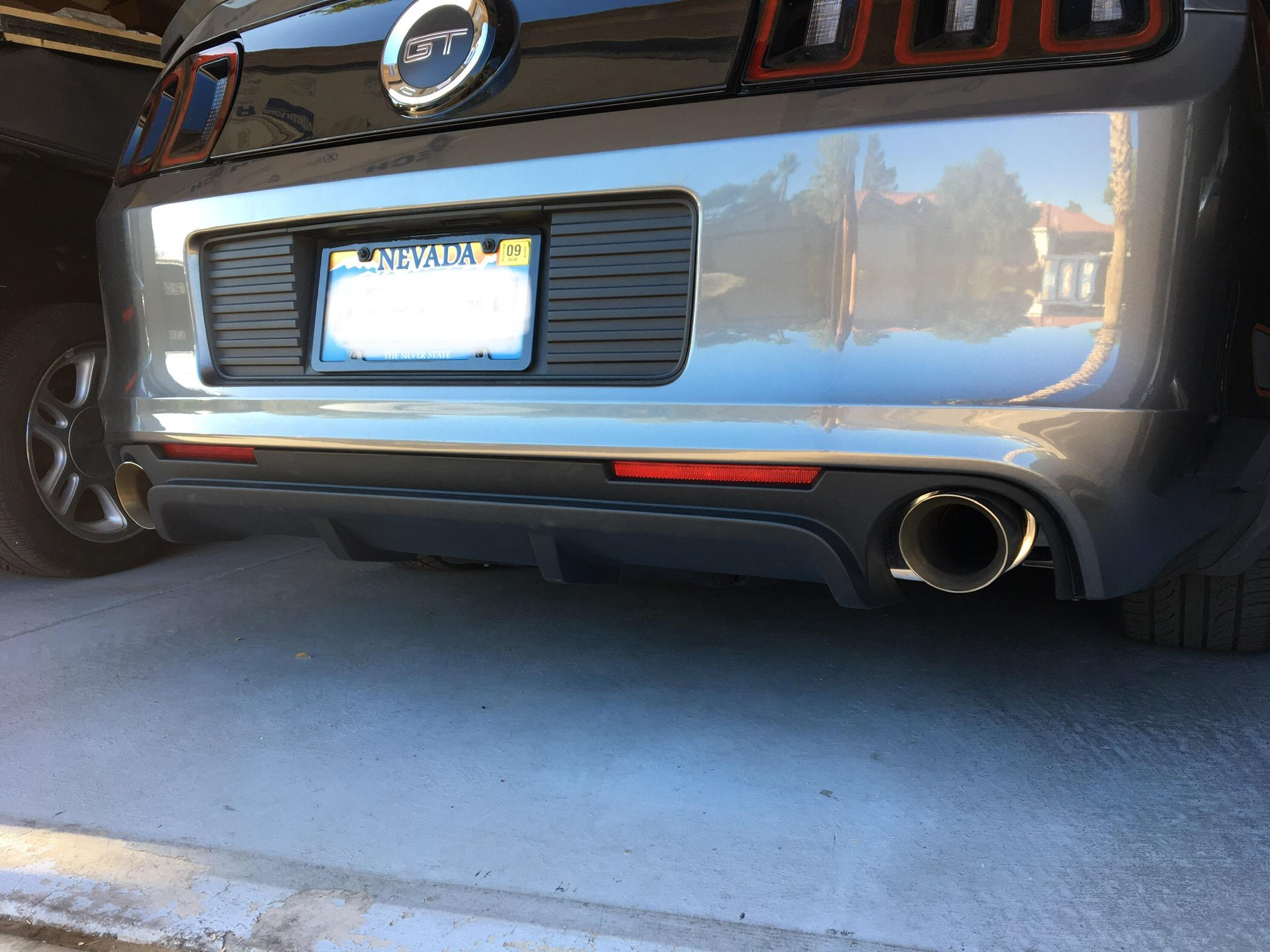 Mustang Boss 302 Rear Diffuser 13 14 3z17f828ba Lmr Ford Great Appearance And Pretty Easy To Install Looks Really Gave The Backend A More Aggressive