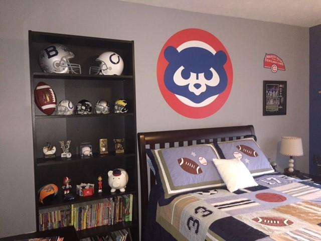 Chicago Cubs Classic Logo Wall Decal Shop Fathead For Chicago - Instructions on how to put up a wall sticker